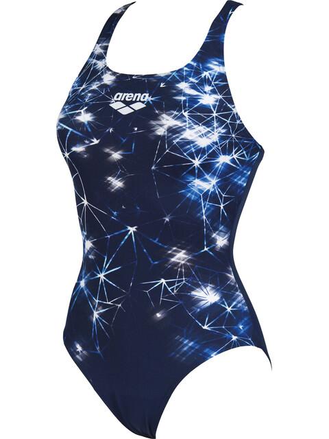 arena Galaxy V Back - Bañador Mujer - azul